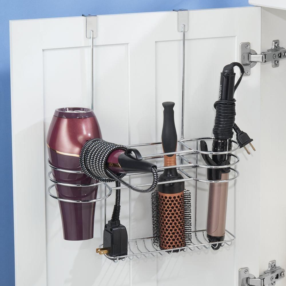 Soporte de baño para secador, plancha y cepillos